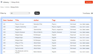 Aamra Software for School Management Library Module